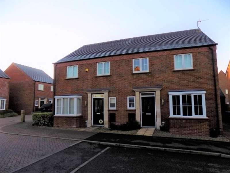 4 Bedrooms Semi Detached House for sale in Greyhound Croft, Hinckley
