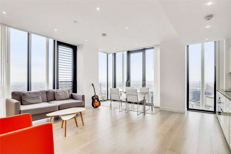 2 Bedrooms Penthouse Flat for sale in Stratosphere Tower, 55 Great Eastern Road, London, E15