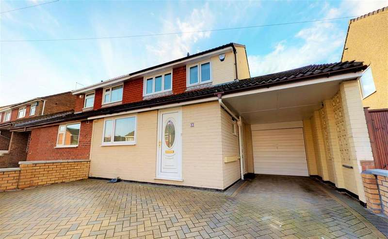 3 Bedrooms Semi Detached House for sale in Ladman Road, Stockwood