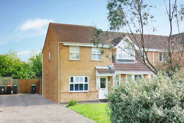 3 Bedrooms Semi Detached House for sale in Kirkstall Close, Bedford, Bedfordshire, MK42 9FE
