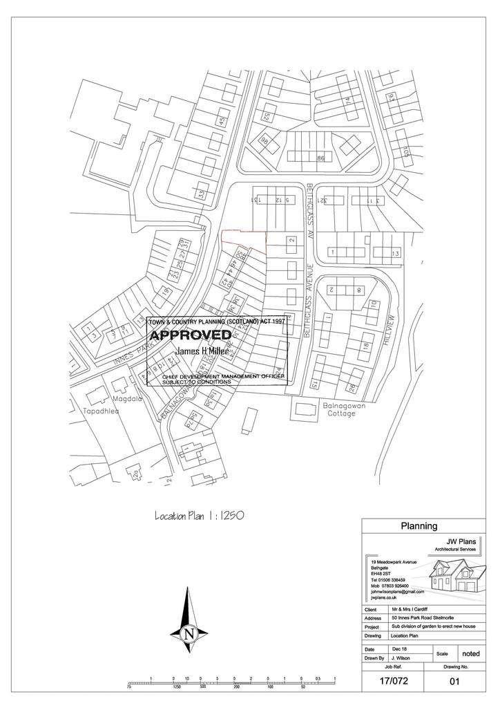 Plot Commercial for sale in Plot of Land, 50A Innes Park Road, Skelmorlie, PA17 5BA