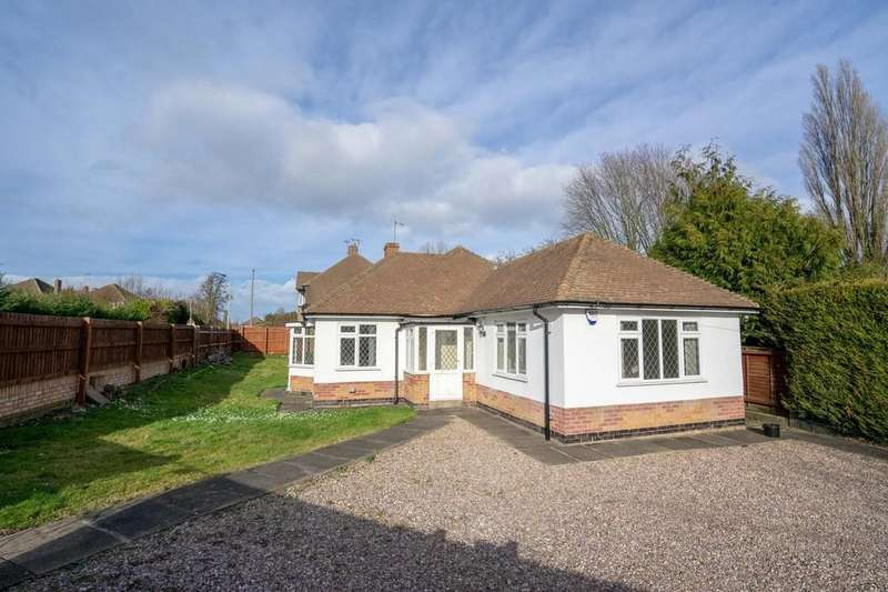 2 Bedrooms Detached Bungalow for sale in Uppingham Road, Evington, Leicester
