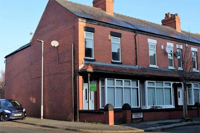 3 Bedrooms End Of Terrace House for sale in Moreton Avenue, Stretford, Manchester, M32