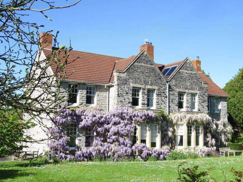 6 Bedrooms Detached House for sale in Old Vicarage with views and stunning gardens, Henton, Wells