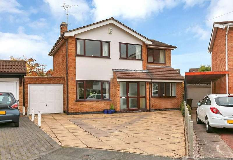 4 Bedrooms Detached House for sale in Exmoor Close, Loughborough, Leicestershire