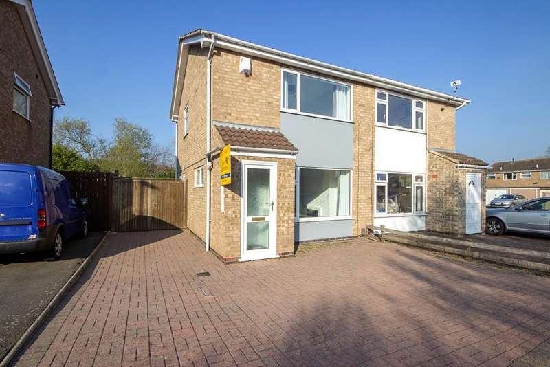 2 Bedrooms Semi Detached House for sale in Swithland Close, Loughborough