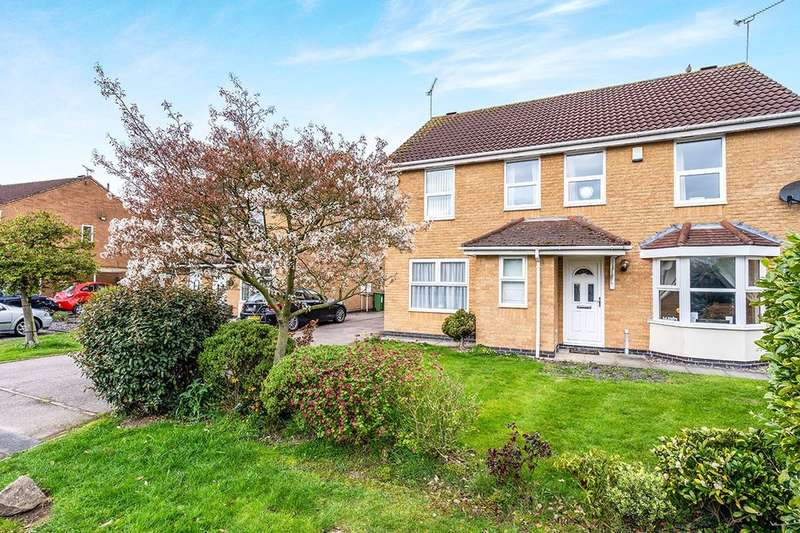 3 Bedrooms Semi Detached House for sale in Bracken Close, Leicester Forest East, Leicester, LE3