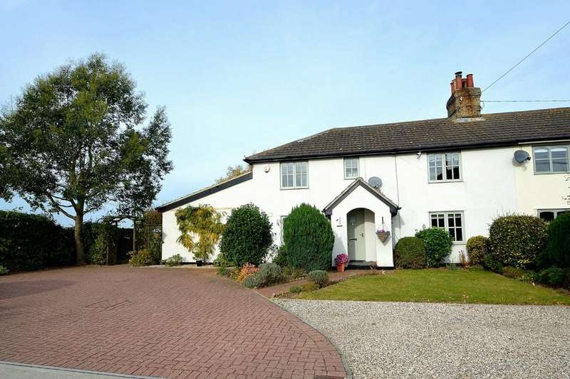 4 Bedrooms Semi Detached House for sale in Church Road, Tattingstone, Ipswich, IP9 2LZ