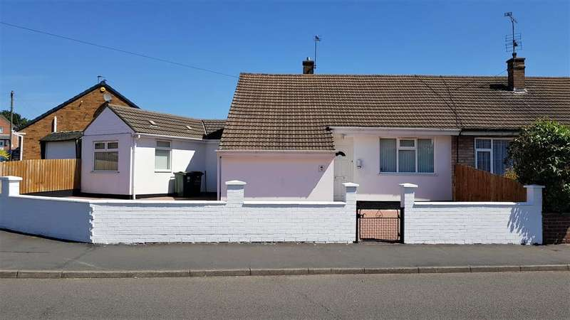 3 Bedrooms Semi Detached Bungalow for sale in SILVERDALE DRIVE, THURMASTON, LEICESTER LE4