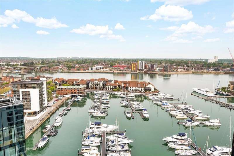 3 Bedrooms Apartment Flat for sale in The Moresby Tower, Admirals Quay, Ocean Way, Southampton, SO14