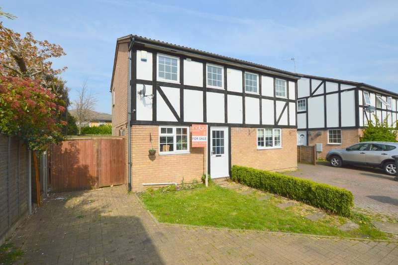2 Bedrooms Semi Detached House for sale in Beanley Close, Wigmore, Luton, Bedfordshire, LU2 9UL