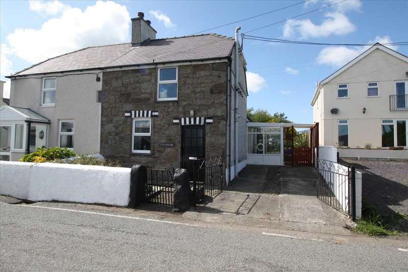 2 Bedrooms Semi Detached House for sale in Tai Newydd, Carmel