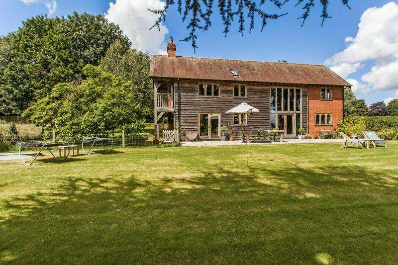 5 Bedrooms Detached House for sale in Houghton, Nr Stockbridge, Hampshire