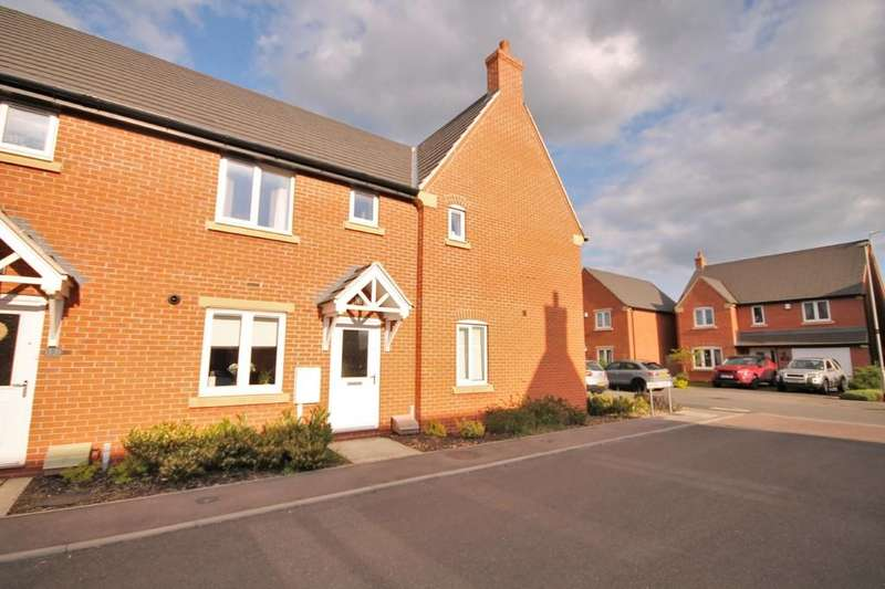 2 Bedrooms End Of Terrace House for sale in Harebell Court, Lutterworth