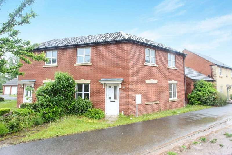 3 Bedrooms Semi Detached House for sale in Sockburn Close, Hamilton, Leicester, LE5