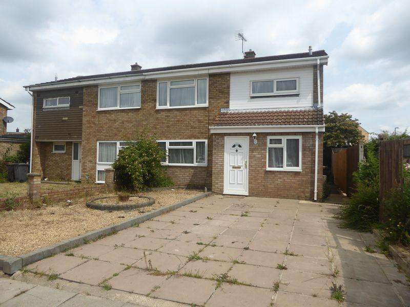 4 Bedrooms Semi Detached House for sale in Gelding Close, Luton