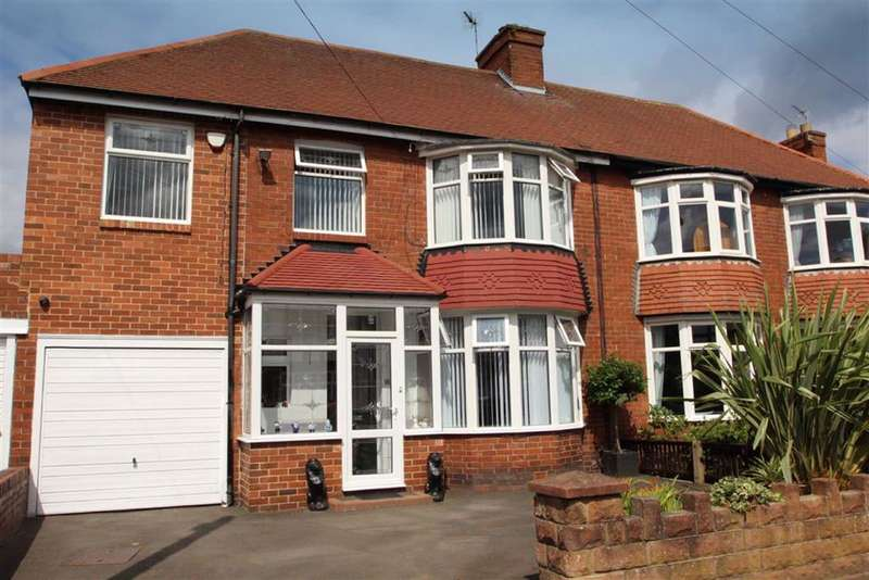 4 Bedrooms Semi Detached House for sale in Millfield Gardens, Tynemouth, Tyne & Wear, NE30