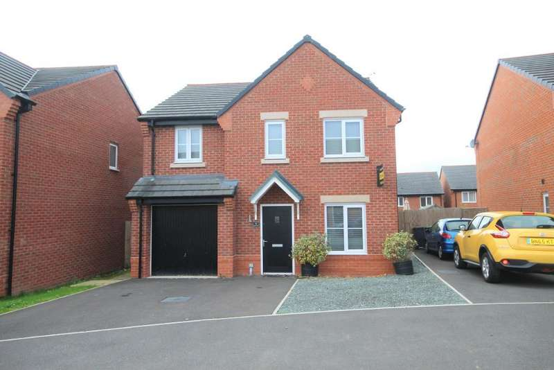 4 Bedrooms Detached House for sale in Gregory Crescent, Winsford, Cheshire, CW7 2GX