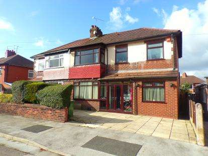 5 Bedrooms Semi Detached House for sale in Curzon Road, Offerton, Stockport, Cheshire