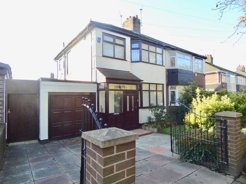 3 Bedrooms Semi Detached House for sale in Bowring Park Road, Liverpool, Merseyside, L14