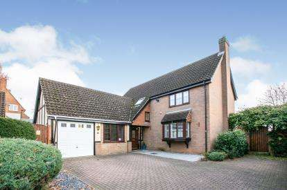 4 Bedrooms Detached House for sale in Barnwell Rise, Potton, Sandy, Bedfordshire
