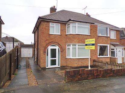 3 Bedrooms Semi Detached House for sale in Moorgate Avenue, Birstall, Leicester, Leicestershire
