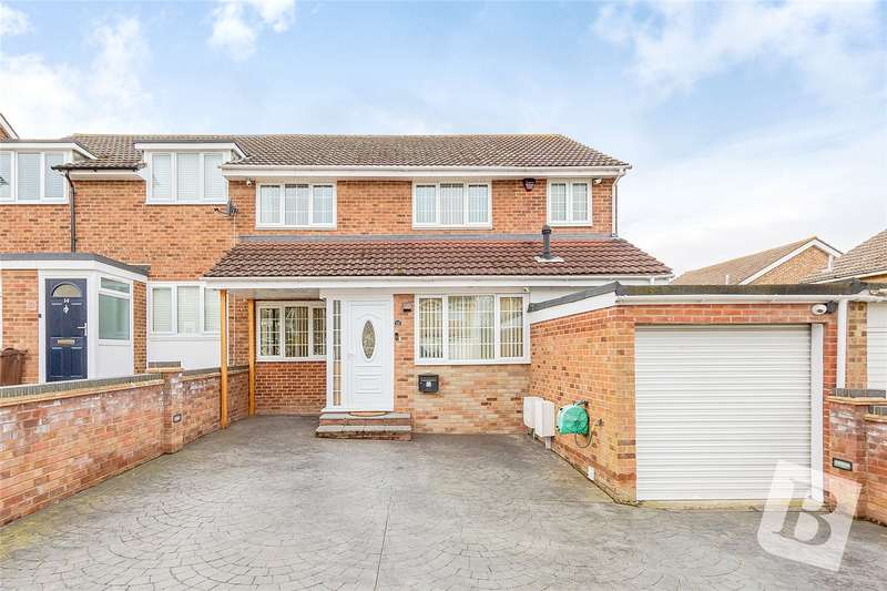 4 Bedrooms Semi Detached House for sale in Reedham Crescent, Cliffe Woods, Rochester, Kent, ME3