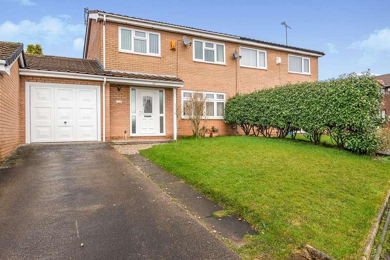 3 Bedrooms Semi Detached House for sale in Denholme, UpHolland, Skelmersdale, Lancashire, WN8