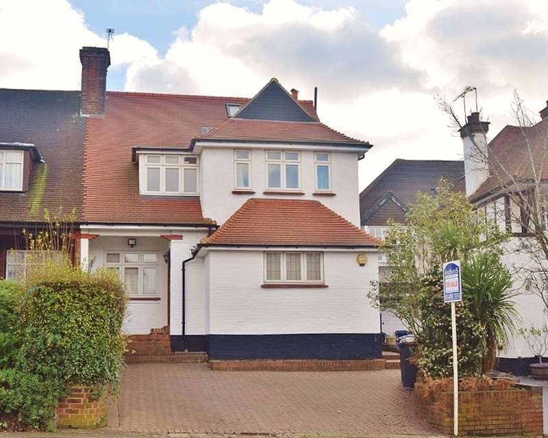 5 Bedrooms Semi Detached House for sale in WESSEX GARDENS, GOLDERS GREEN, LONDON, NW11
