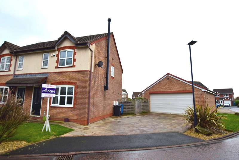 3 Bedrooms Semi Detached House for sale in Dover Close, Warton, PR4 1YG