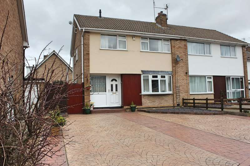 3 Bedrooms Semi Detached House for sale in Yarwell Drive, Wigston, Leicester