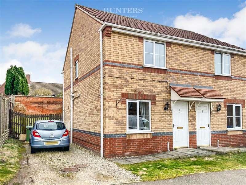 2 Bedrooms Semi Detached House for sale in Juniper Way, Gainsborough, DN21 1GW