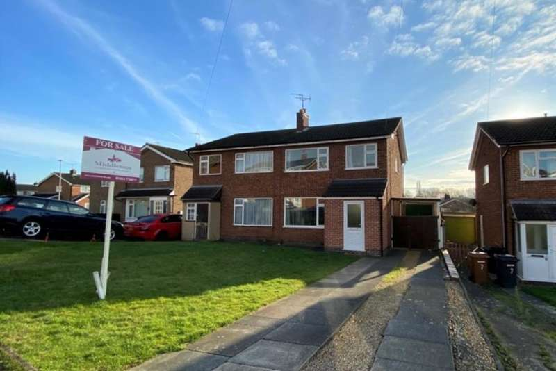 3 Bedrooms Semi Detached House for sale in Witham Close, Melton Mowbray