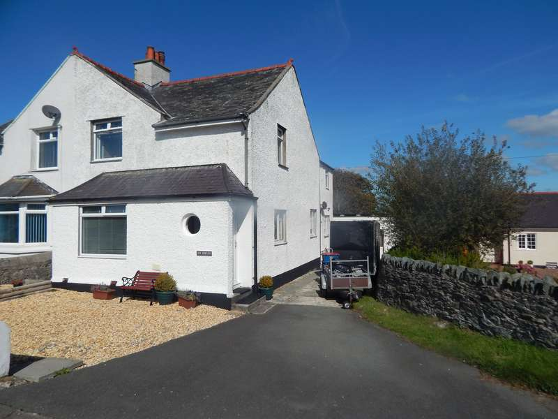 3 Bedrooms Semi Detached House for sale in Caergeiliog, Holyhead, Anglesey, LL65