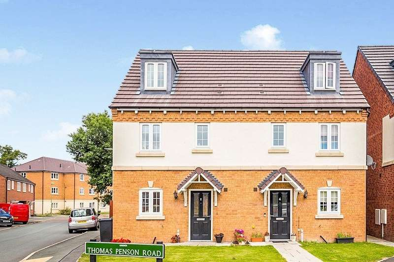 4 Bedrooms Semi Detached House for sale in Thomas Penson Road, Gobowen, Oswestry, Shropshire, SY11