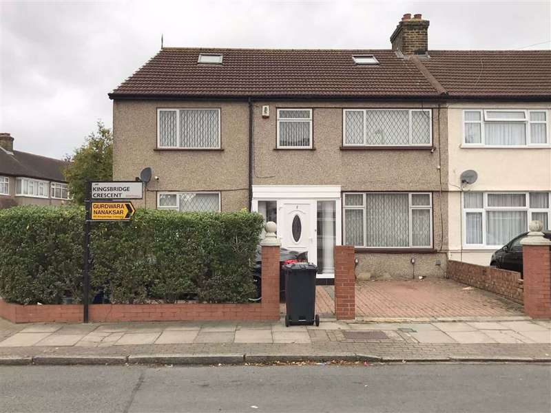 4 Bedrooms End Of Terrace House for sale in Kingsbridge Crescent, Southall, Middlesex
