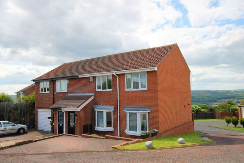 3 Bedrooms Semi Detached House for sale in South Fork, Lemington Rise, Newcastle Upon Tyne, NE15