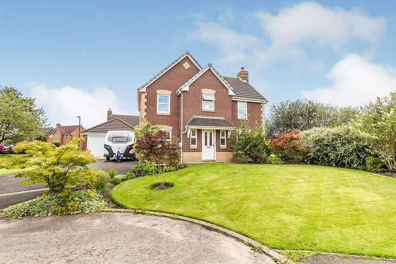 4 Bedrooms Detached House for sale in St. Andrews Close, Euxton, Chorley, Lancashire, PR7