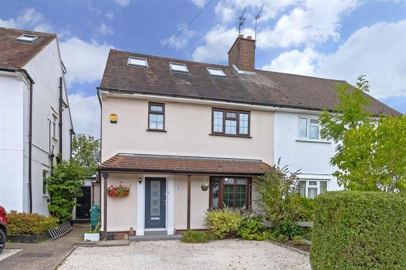 4 Bedrooms Semi Detached House for sale in Battlers Green Drive, Radlett