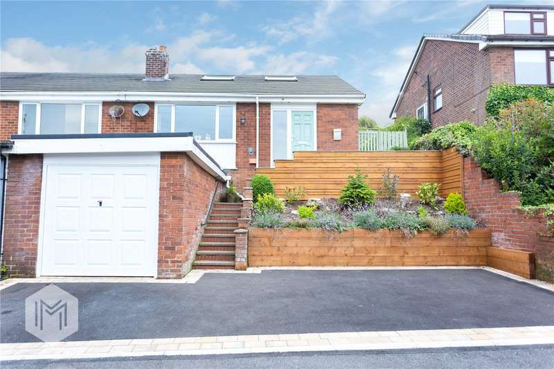 3 Bedrooms Semi Detached Bungalow for sale in Heapworth Avenue, Ramsbottom, Bury, Greater Manchester, BL0