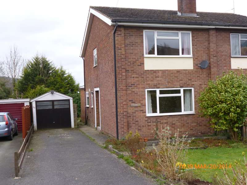 3 Bedrooms Semi Detached House for rent in 65 Quarry Gardens, Ludlow, Shropshire, SY8 1RE