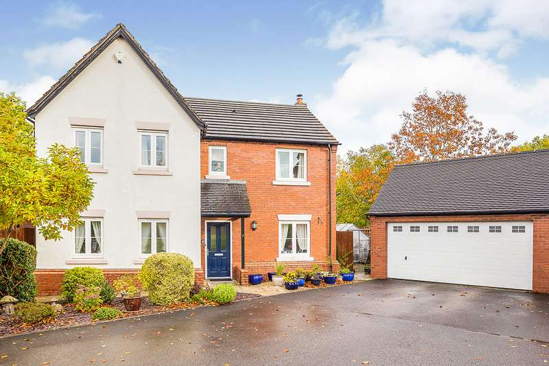 4 Bedrooms Detached House for sale in Bryn Glas, Oswestry, Shropshire, SY11