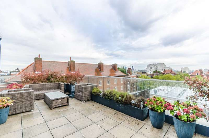 2 Bedrooms Flat for sale in Penthouse with London Skyline Views from Roof Terrace - Triangle Place, Clapham, SW4
