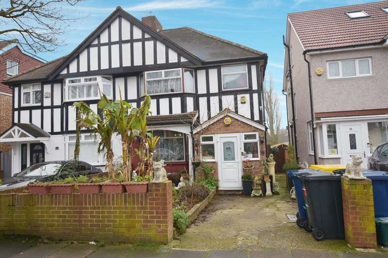 3 Bedrooms Semi Detached House for sale in Halsbury Road West, Northolt, UB5 4PW