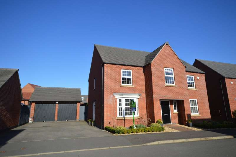 4 Bedrooms Detached House for sale in Suffolk Way, Church Gresley, Swadlincote, Derbyshire, DE11