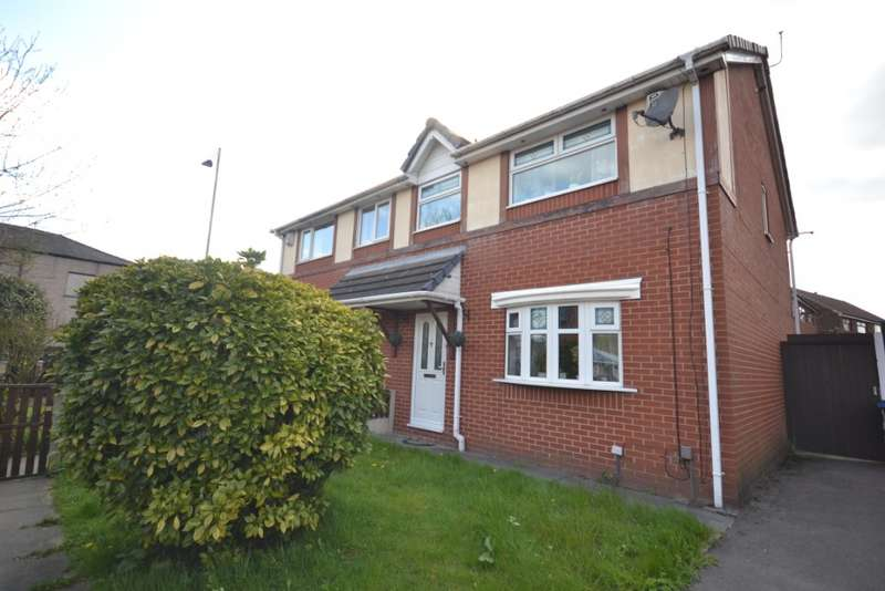 3 Bedrooms Semi Detached House for sale in Mycroft Close, Westleigh, Leigh, WN7 5QD