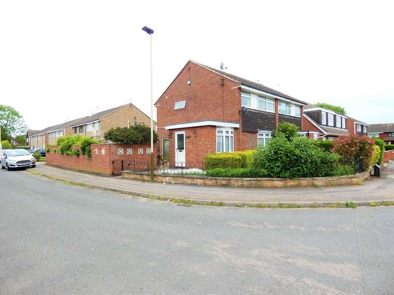 3 Bedrooms Semi Detached House for sale in Badminton Road, Rushey Mead, Leicester