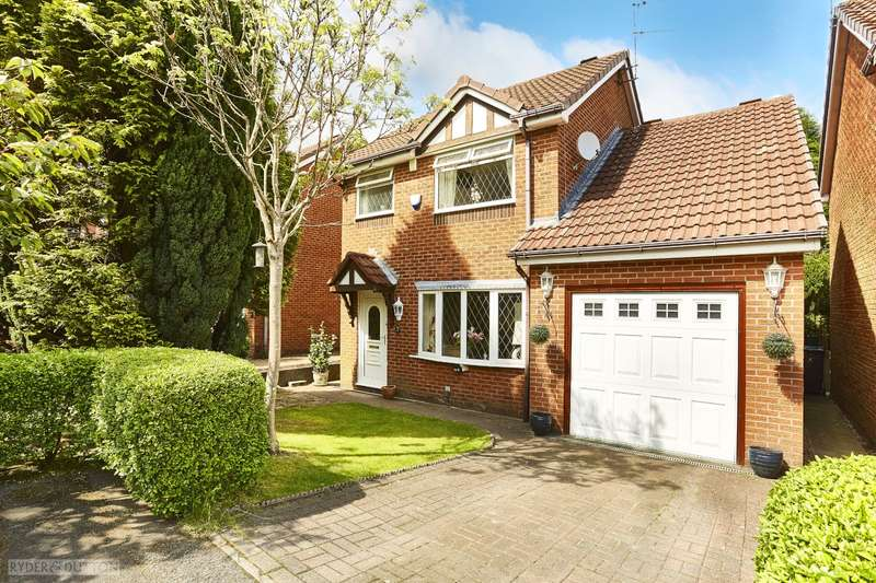 3 Bedrooms Detached House for sale in Cyprus Close, Salem, Oldham, Greater Manchester, OL4