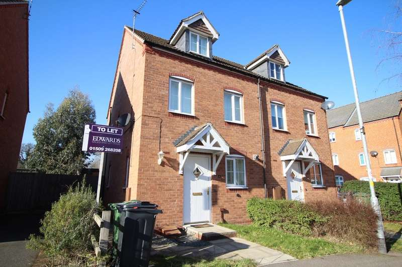 3 Bedrooms Semi Detached House for rent in Darwin Crescent, Loughborough