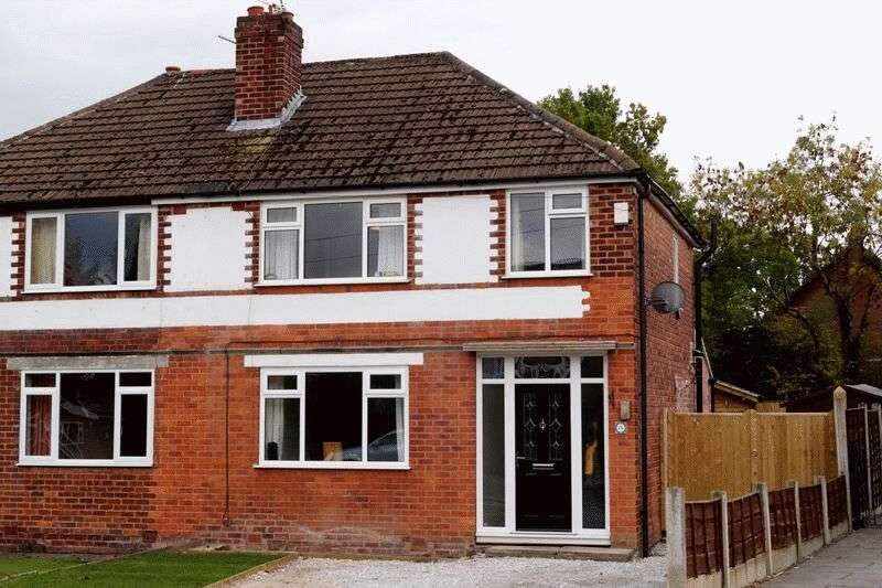 3 Bedrooms Semi Detached House for sale in CHEADLE HULME ( GLANDON DRIVE )